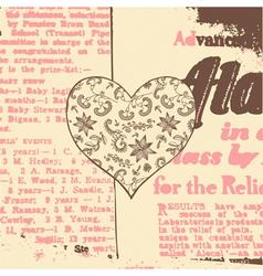 Vintage Hearts Paper Cut Background vector image vector image