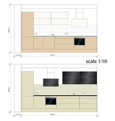 Kitchen furniture Interior vector image vector image