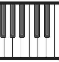 octave piano key vector image
