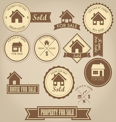 Property For Sale Design Set vector image vector image