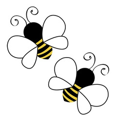 Bees flying vector image