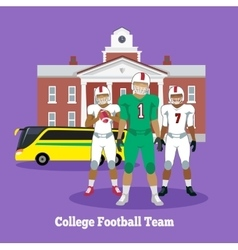 College Football Team Concept Flat Design vector image vector image