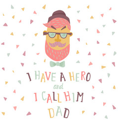 dad poster 3 vector image