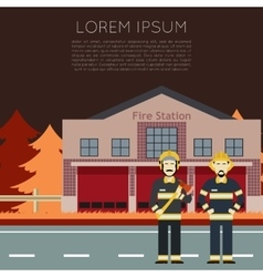 Fire Station Banner1 vector image vector image