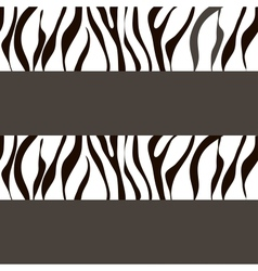 zebra background with traces vector image