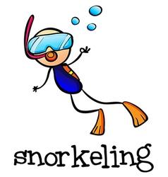 A stickman snorkeling vector