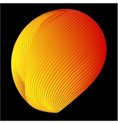 Abstract 3d background with half sphere vector image