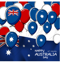 australia day design of flag and balloon vector image