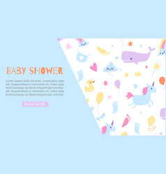 baboy shower blue banner vector image