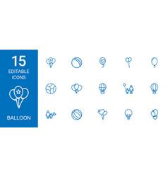 balloon icons vector image
