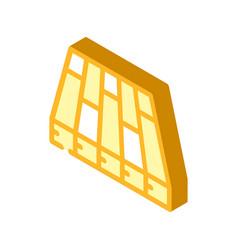 Batten floor isometric icon vector