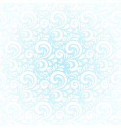 Blue winter curls abstract background vector image