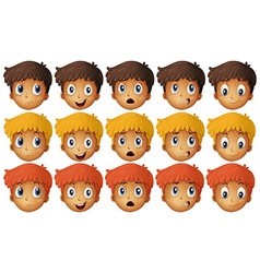 Boy with different emotions vector image