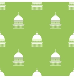Capitol icon seamless pattern vector