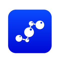 chemical and physical molecules icon digital blue vector image
