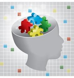 Child autism vector image