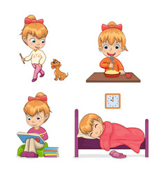 Child collection of activities vector