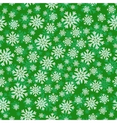 Christmas seamless pattern with white green vector image