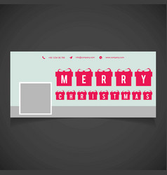 Christmas social media cover with gift boxes vector