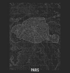 City map paris elevation map town vector
