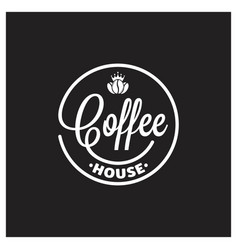 coffee king logo on black background vector image