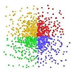 Colorful Confetti vector image