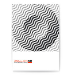 Cover design with modern geometric minimalistic vector