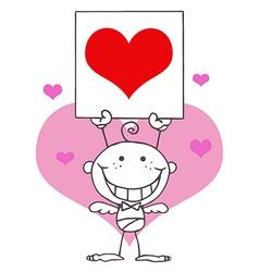 Cupid cartoon vector image
