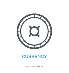 currency line flat icon vector image