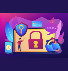 Cyber security software concept vector