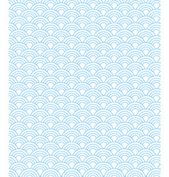 Dashed line pattern wave simple on white vector