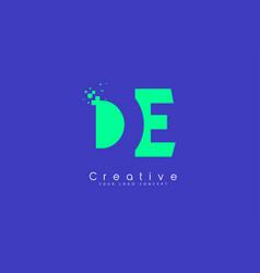 de letter logo design with negative space concept vector image