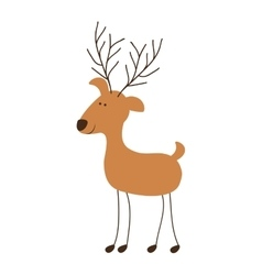 deer cartoon icon image vector image