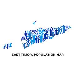 demographics east timor map vector image
