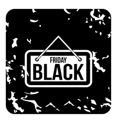 Discount black friday icon grunge style vector