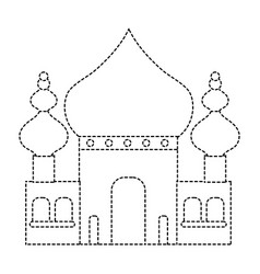 Dotted shape taj mahal in india journey vacation vector