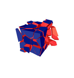 Exploded cube vector