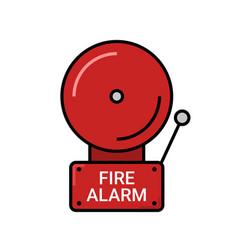 fire alarm emergency icon alert vector image