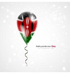 Flag of Kenya on balloon vector image