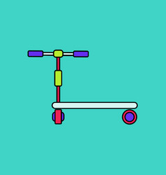Flat icon design collection kids toy scooter vector