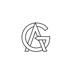 G a a letter lines logo design vector
