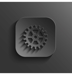 Gear icon - black app button vector
