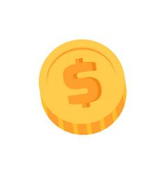 golden dollar coin closeup vector image