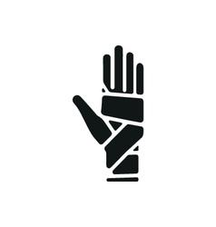 Hand bandaging vector