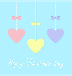 Happy valentines day sign symbol pink blue yellow vector