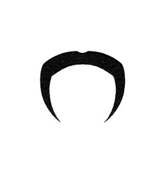 horseshoe mustaches isolated on white background vector image