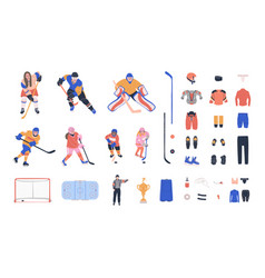 Ice hockey clipart collection vector