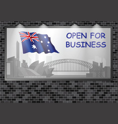 illuminated advertising billboard australia open b vector image
