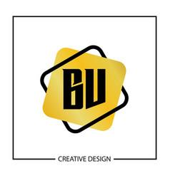 Initial letter bv logo template design vector