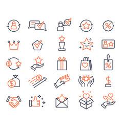 loyalty program shopping bonus system icons vector image